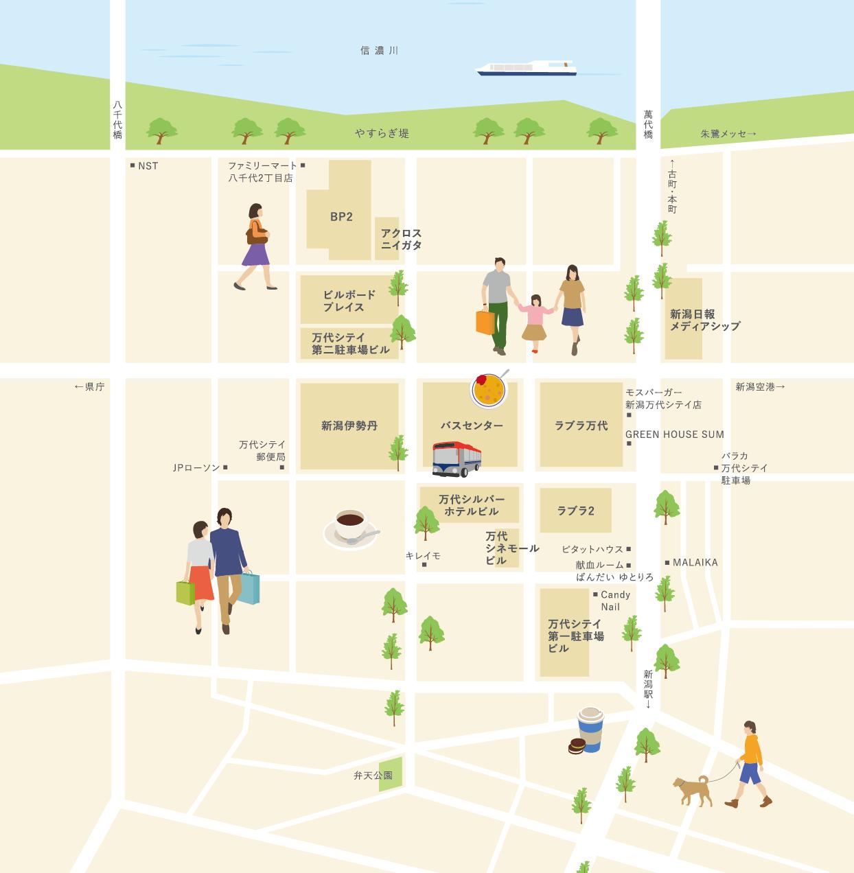 万代シテイ MAP